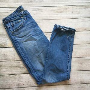 AG High Rise Boyfriend Jeans
